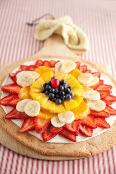 Fresh Fruit Pizza Recipe — Pauladeen.com