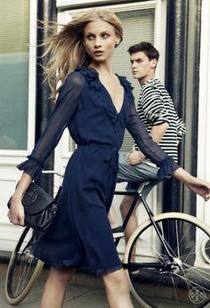 lovely dress #blue #silk