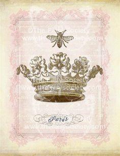 Vintage Crown Collage