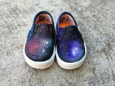 Space Custom Hand-Painted Toddler Shoes (Any Whole Size)