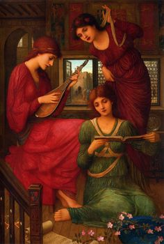 In the Golden Days. John Melhuish Strudwick (British, Pre-Raphaelite, 1849-1937). Oil on canvas.