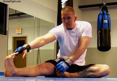 a gay boxers boxing club workout stretching pics gallery