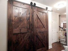 Atlanta Interior Sliding Barn Doors Double Z Style Rustic Plank Bypass Doors by YoureUnique on Etsy https://www.etsy.com/listing/225694922/atlanta-interior-sliding-barn-doors
