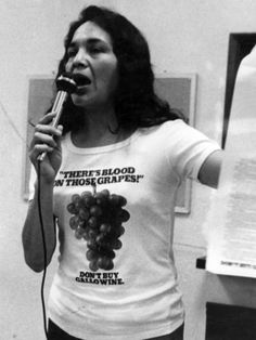 Dolores Huertaa, co-founder of the National Farmworkers Association (now United Farm Workers of America (UFWA)).
