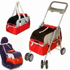 3 in 1 Pet Stroller. Need a pet stroller? Or a Pet Carrier? Or a Pet Car Seat? How about all three in one? The 3 in 1 Pet Carrier is exactly that. It easily converts from a stroller, to a car seat to a carrier in minutes without tools! Key Features: Tether / safety belt. Folds and collapses for easy storage. Parent tray w/cup holders. Large mesh openings for excellent ventilation. Roll down flaps provide security when needed. Washable and removable interior pad…