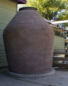 ferrocement tank as water cistern, see page for info (compare my pizza oven chimney and my wood BBQ chimney)