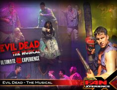 Welcome back Evil Dead - The Musical to 2014 Salt Lake Comic Con #FanX, the surprise hit of the Strip that's painting Las Vegas BLOODY!