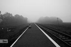 Railroad station. by Andriy Solovyov