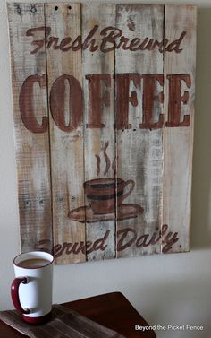 cool coffee sign....def want one for my future home
