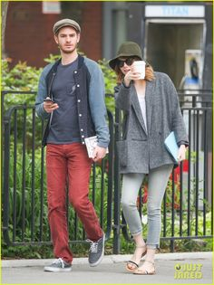 Emma Stone and Andrew Garfield, casual style in NYC.