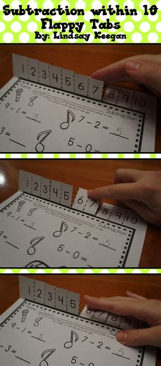 Students will love practicing their subtraction facts with these fun Flappy Tabs!