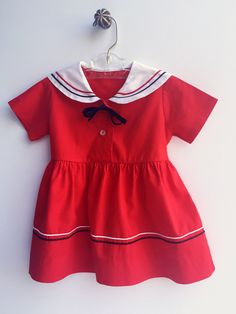 A personal favorite from my Etsy shop https://www.etsy.com/listing/250841694/toddler-girl-dress-red-toddler-sailor