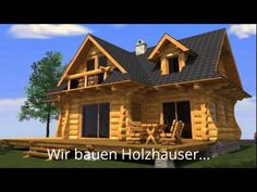 kanadisches blockhaus im s den k rntens wohnnutzfl che 180m kanadische blockh user. Black Bedroom Furniture Sets. Home Design Ideas