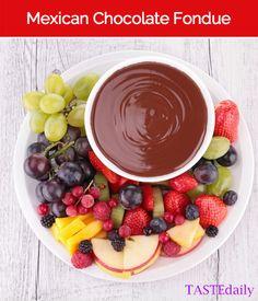 Mexican Chocolate Fondue