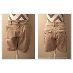 BeBop light khaki shorts Light Khaki shorts size 11. From top to bottom 16 in. Never worn! Inseam 8 1/2. 98% cotton 2% spandex. BeBop Other