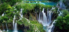Plitvice Lakes National Park in the Lika region of Croatia.