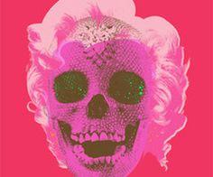 Marilyn Monroe with Damian Hirst Skull, by Mr.brainwash, Pop Art, Street Art, Grafitti.