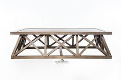 How to Hamptons: Tip #4 Include geometrical patterns like this beautiful oak coffee table