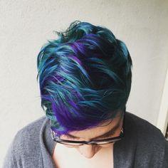 Image result for pixie cut mermaid hair
