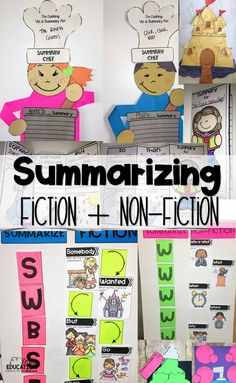 Teach students how to summarize fiction and non fiction text with tons of different activities and ideas to help your learners. Includes: worksheets, crafts, printables, interactive notebook pages, and more.