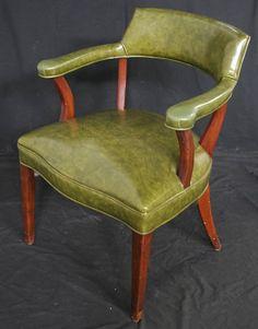 Beautiful Vintage Mahogany Wood Green Library by ScrantonAttic, $224.99