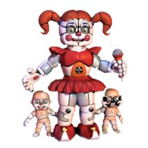 Circus Baby and her baby's. That's too weird. But then again this is FNaF we're talking about lol.