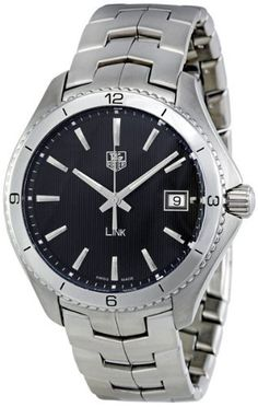 617d4ff431a BA0950 Link Black Dial Watch by TAG Heuer   TAG-
