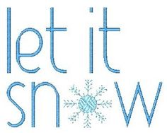 Let It Snow - 2 Sizes! | Winter | Machine Embroidery Designs | SWAKembroidery.com Stitch-Ville