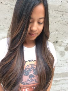 haircuts for brunettes black to honey balayage highlights by cici andersen 2434 | 3bb588ad2434dca8c04caf0f60ffe02f asian balayage balayage hair