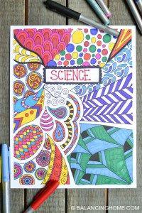 Coloriage couverture de cahier