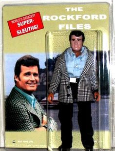 Nowadays, I'd much prefer to have the private eye Jim Rockford figure sh. Purple Heart Recipients, The Rockford Files, Jack Kelly, James Scott, Tv Detectives, Actor James, Its A Wonderful Life, Classic Toys, Old Movies