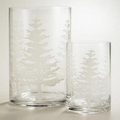 White Tree Glass Hurricane Candleholders   World Market
