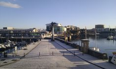 Occasionally we do get snow on the Plymouth Barbican :) (taken in 2011)