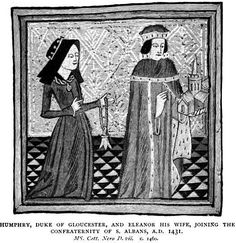 """For a few years in the 15th century, Eleanor Cobham, Duchess of Gloucester—an adulteress and the daughter of a mere knight—was within a heartbeat of becoming queen of England. Instead, she ended her life a prisoner, bereft of her wealth and forcibly divorced from the man who had brought her to the pinnacle of English society."" READ ""Eleanor Cobham: The Duchess and her Downfall"":  http://www.susanhigginbotham.com/blog/posts/eleanor-cobham-the-duchess-and-her-downfall/"