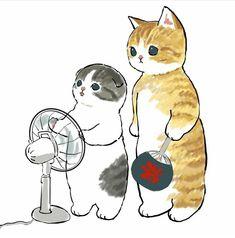 Cute Cartoon Drawings, Cartoon Art, Cat Phone Wallpaper, Kitten Drawing, Cute Profile Pictures, Kawaii Art, Furry Art, Cute Baby Animals, Cat Memes