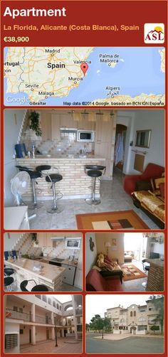 Apartment for Sale in La Florida, Alicante (Costa Blanca), Spain - A Spanish Life Murcia, Alicante, Valencia, Costa, Apartments For Sale, Terrace, Spanish, Studio, Outdoor Decor