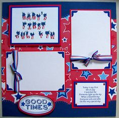 4th of July - Scrapbook Page