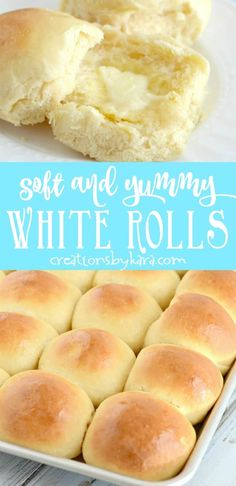 This has been a favorite dinner roll recipe for years! You will get rave reviews if you serve these yummy white rolls! The best soft and flavorful roll recipe. #whiterolls #dinnerrolls #yeastrolls #yummywhiterolls #creationsbykara