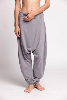 Harem Pants gray and blue. $77,00, via Etsy.