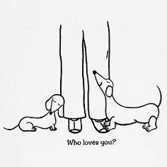 Dachshund – Friendly and Curious Dachshund Tattoo, Arte Dachshund, Dachshund Love, Dog Grooming Business, Weenie Dogs, Doggies, Daschund, Illustration, Dog Shirt