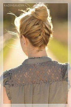ters örgü saç modelleri