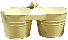 Fireside Home - K-223 White Wash Dual Bucket w/Handle,   (http://www.firesidehome.ca/k-223-white-wash-dual-bucket-w-handle/)