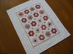 Hexagon Flowers Miniature Quilt