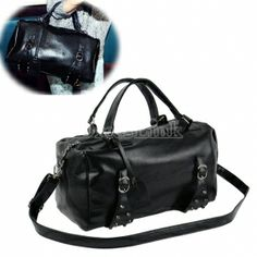 $12.10 Fashion Women's Girl Black Studs Satchel Handbag Cross-Body Shoulder Bag