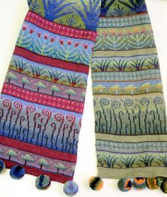 Scarf and art by sirkka könönen. Cowl Scarf, Knit Cowl, Knitted Shawls, Knit Crochet, Knit Scarves, Knitting Charts, Hand Knitting, Knitting Designs, Knitting Projects