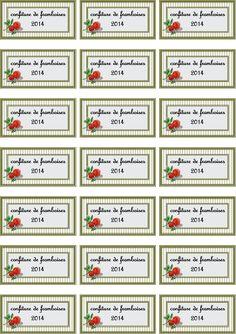 Assez CONFITURE FIGUES ET RHUBARBE 2014 | Etiquettes de confiture à  DW73