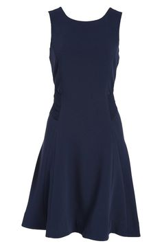 Gorgeous navy! rag & bone Open Back Fit & Flare Dress