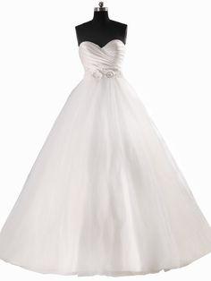 Lemandy robe de mariée tulle princesse fleurs cristal col en coeur: Amazon.fr: Vêtements et accessoires