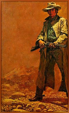 Confidence is an attribute, when its earned. Cowboy Art, Cowboy And Cowgirl, Westerns, Real Cowboys, Western Comics, West Art, Fantasy Paintings, Le Far West, Art Graphique