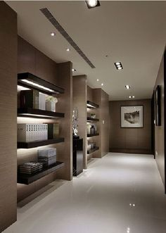 floating shelving with impeccable styling